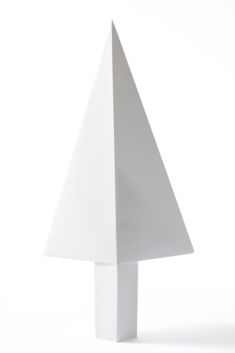 Paper Craft「Isolated shot of blank origami tree on white background」:スマホ壁紙(14)