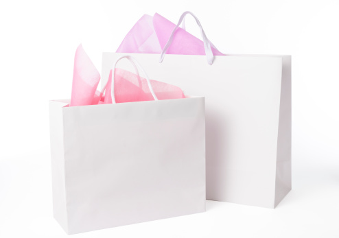 Retail「Isolated shot of two blank shopping bags on white background」:スマホ壁紙(8)