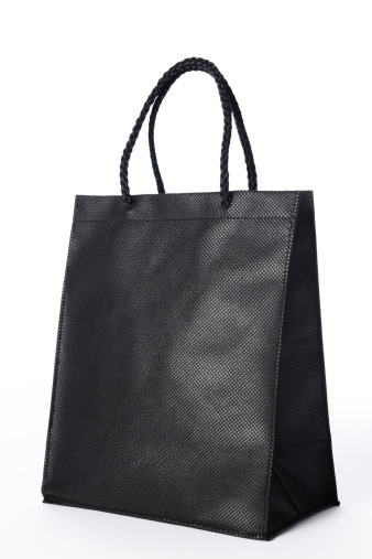 Black Color「Isolated shot of blank black shopping bag on white background」:スマホ壁紙(13)