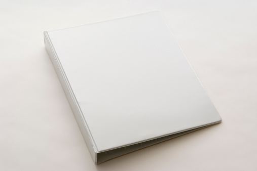 Spiral Notebook「Isolated shot of white blank ring binder on white background」:スマホ壁紙(17)