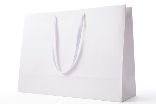 Merchandise「Isolated shot of white blank shopping bag on white background」:スマホ壁紙(16)