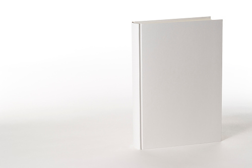 Book Spine「Isolated shot of white blank book on white background」:スマホ壁紙(4)