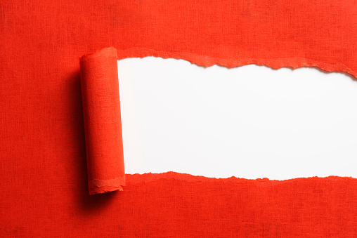 Frame - Border「Isolated shot of torn red paper on white background」:スマホ壁紙(1)