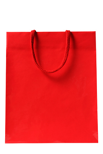 Handle「Isolated shot of blank red shopping bag on white background」:スマホ壁紙(4)
