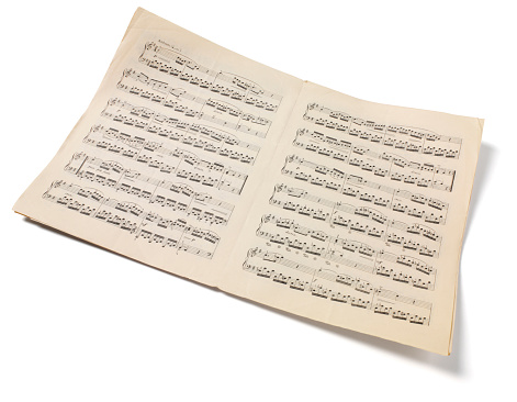 Old-fashioned「Isolated Sheet Music」:スマホ壁紙(13)