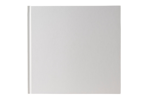 Book Cover「Isolated shot of square white blank book on white background」:スマホ壁紙(3)