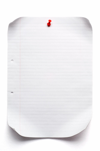 Adhesive Note「isolated sheet of lined paper」:スマホ壁紙(16)