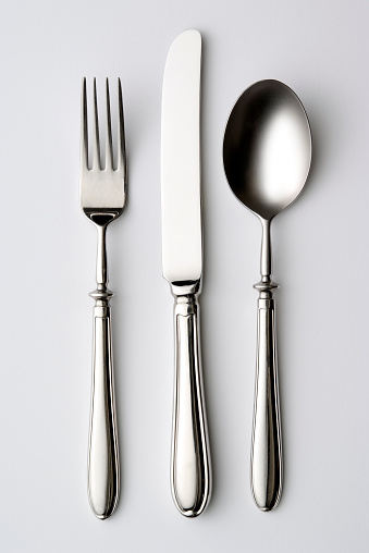 Fork「Isolated shot of silverware on white background」:スマホ壁紙(9)