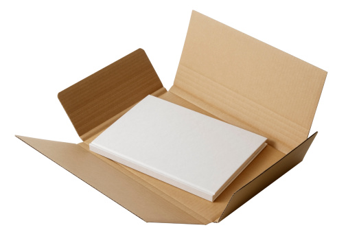 Gift「Isolated shot of cardboard with blank book on white background」:スマホ壁紙(10)