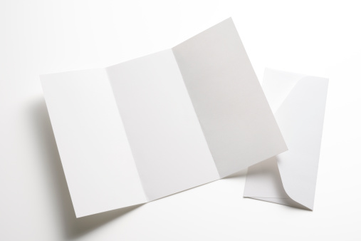 Envelope「Isolated shot of blank booklet with envelope on white background」:スマホ壁紙(12)