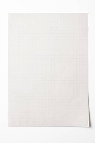 Isolated shot of blank graph paper on white background:スマホ壁紙(壁紙.com)