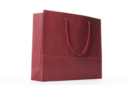 Gift Bag「Isolated shot of brown shopping bag on white background」:スマホ壁紙(18)