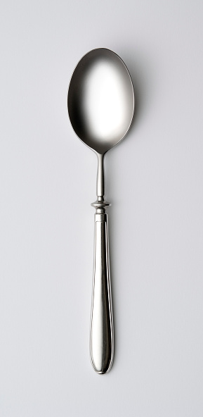 Spoon「Isolated shot of shiny silver spoon on white background」:スマホ壁紙(5)