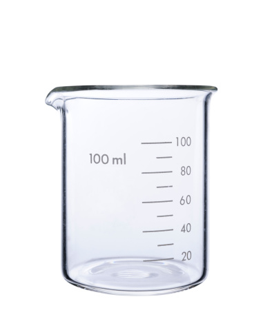 Tube「Isolated shot of empty measuring beaker on white background」:スマホ壁紙(6)