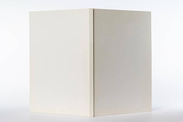 Isolated shot of opened white blank book on white background:スマホ壁紙(壁紙.com)