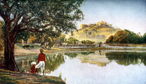 Pune「Temple to the goddess Parvati, wife of Siva, south-west of Pune, Maharashtra, India, c1924.」:写真・画像(16)[壁紙.com]