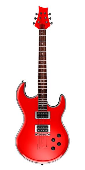 ロックミュージック「レッドエレキギター」:スマホ壁紙(14)