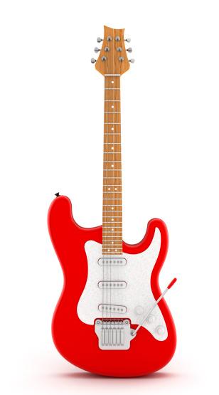 ロックミュージック「レッドエレキギター」:スマホ壁紙(3)