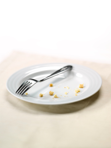 Plate「White plate with crumbs and fork」:スマホ壁紙(15)
