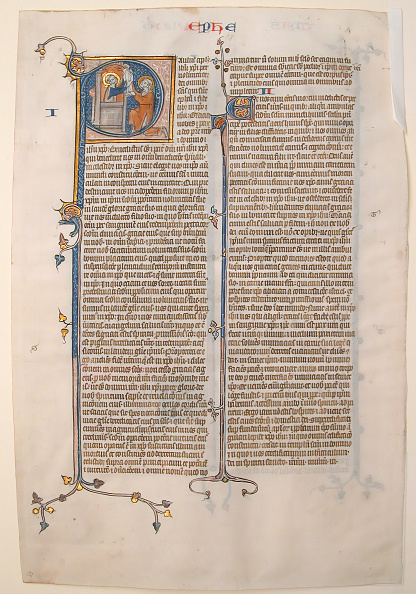 P「Manuscript Leaf With The Opening Of The Epistle Of Saint Paul To The Ephesians」:写真・画像(4)[壁紙.com]