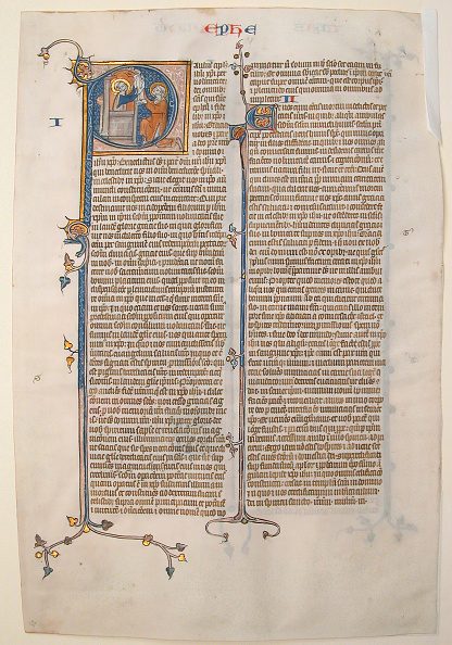 P「Manuscript Leaf With The Opening Of The Epistle Of Saint Paul To The Ephesians」:写真・画像(16)[壁紙.com]