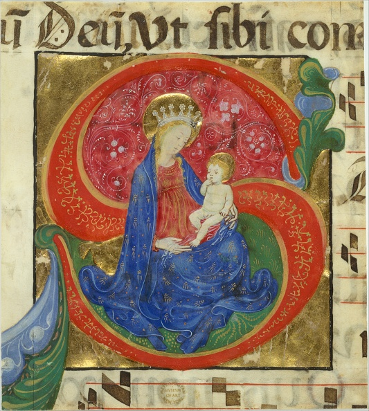 Capital Letter「Manuscript Illumination With The Virgin And Child In An Initial S...」:写真・画像(17)[壁紙.com]