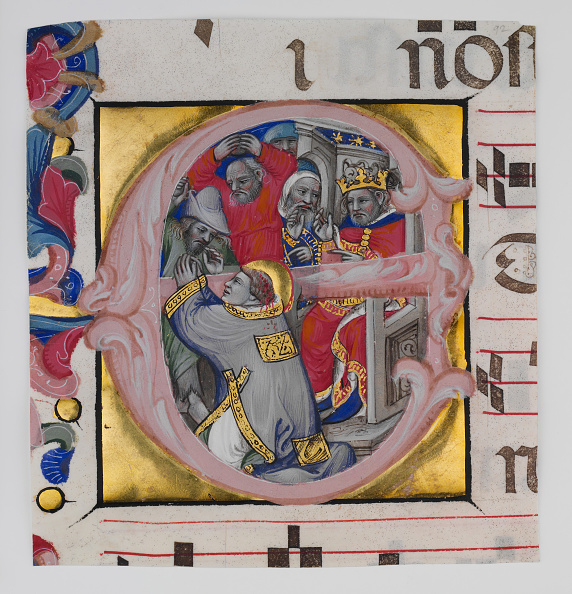 E「Manuscript Illumination With The Martyrdom Of Saint Stephen In An Initial E...」:写真・画像(1)[壁紙.com]