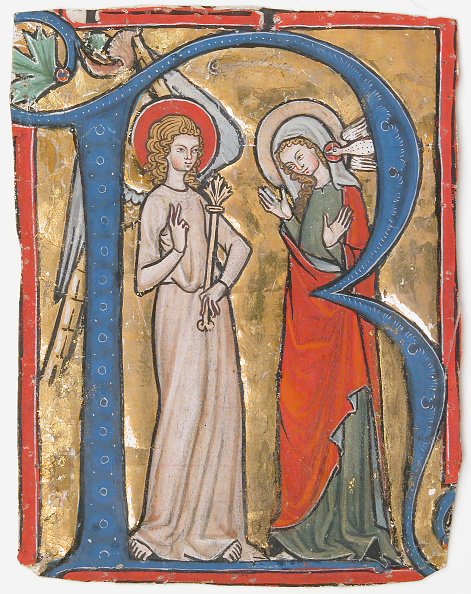 R「Manuscript Illumination With The Annunciation In An Initial R」:写真・画像(2)[壁紙.com]