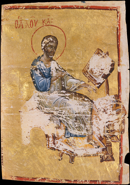 Tempera Painting「Manuscript Illumination With The Evangelist Luke」:写真・画像(13)[壁紙.com]