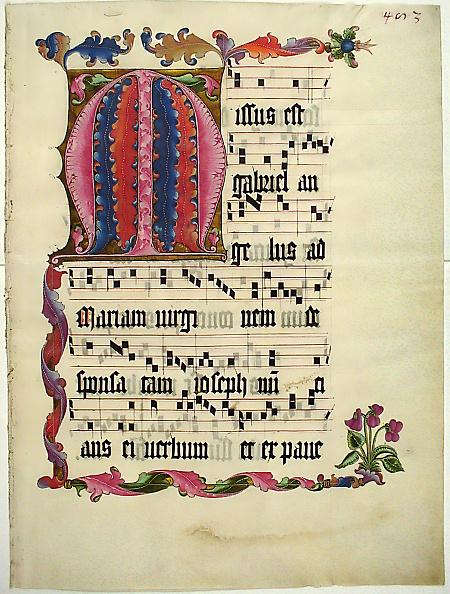 M「Manuscript Leaf With The Initial M」:写真・画像(2)[壁紙.com]