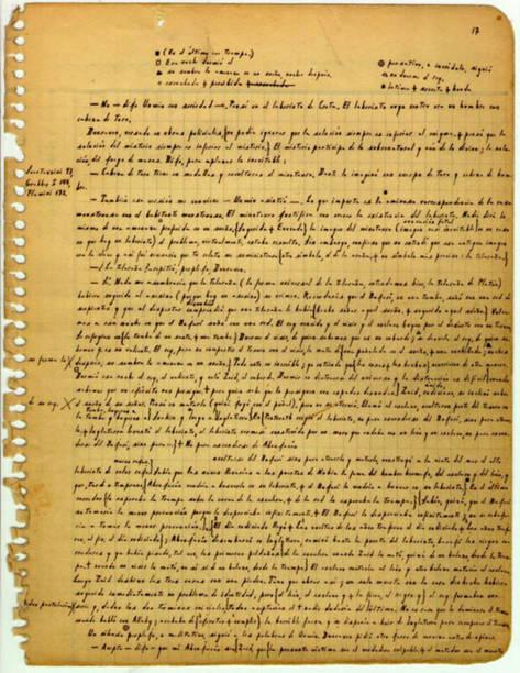 manuscript page by argentinian writer Jorge Luis Borges 1951:ニュース(壁紙.com)
