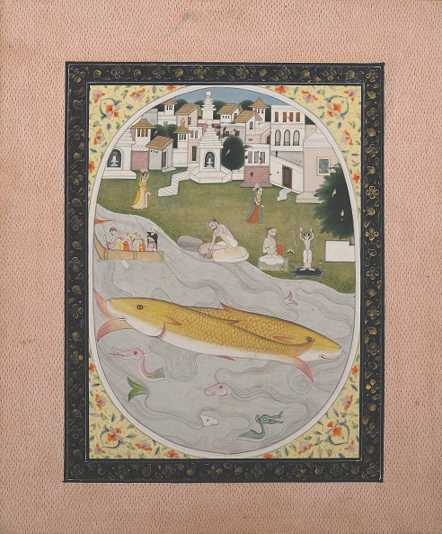 Water's Edge「Manuscript Painting With Hindu Tantric Scene Depicting Two Fish」:写真・画像(8)[壁紙.com]