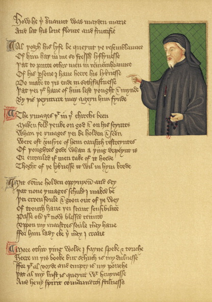 Circa 15th Century「Manuscript and Chaucer portrait」:写真・画像(13)[壁紙.com]