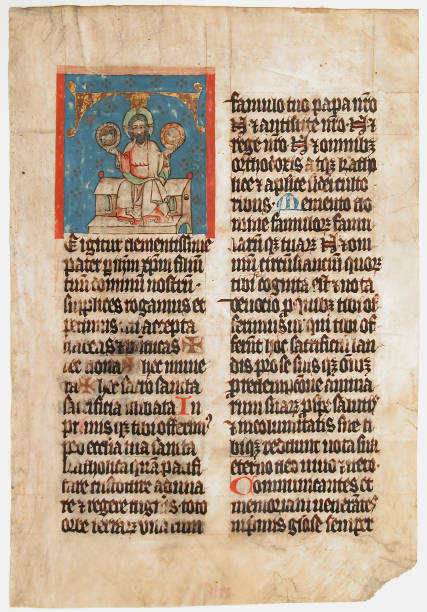 Manuscript Leaf With The Holy Trinity In An Initial T:ニュース(壁紙.com)