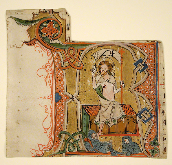 R「Manuscript Leaf Showing An Illuminated Initial R With The Resurrection」:写真・画像(8)[壁紙.com]