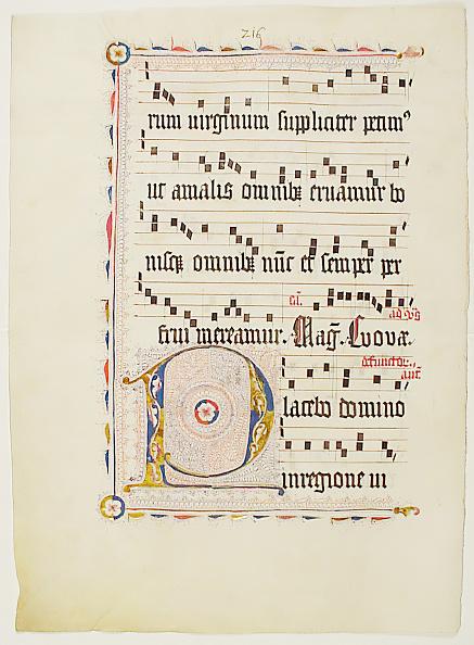 Tempera Painting「Manuscript Leaf With Initial P」:写真・画像(2)[壁紙.com]