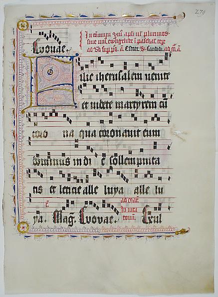 F「Manuscript Leaf With Initial F」:写真・画像(1)[壁紙.com]