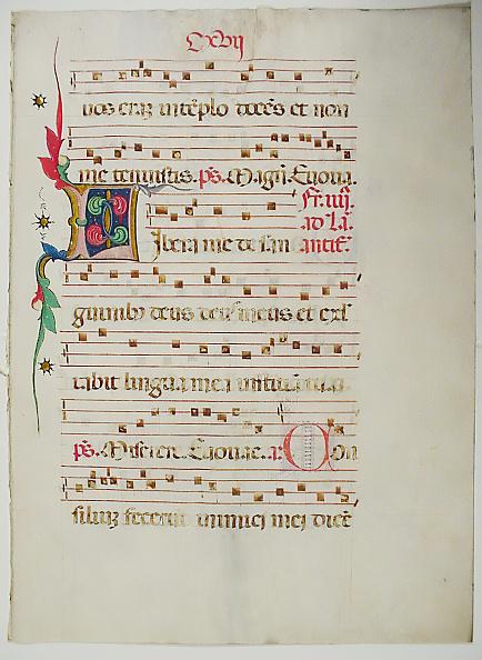 Tempera Painting「Manuscript Leaf With Initial L」:写真・画像(4)[壁紙.com]