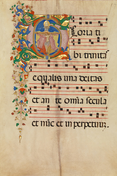 Tempera Painting「Manuscript Leaf With The Trinity In An Initial G」:写真・画像(6)[壁紙.com]