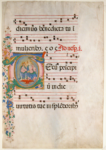 T 「Manuscript Leaf With The Trinity In An Initial T」:写真・画像(5)[壁紙.com]