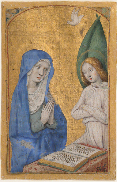 Virgin Mary「Manuscript Leaf With The Annunciation From A Book Of Hours」:写真・画像(2)[壁紙.com]
