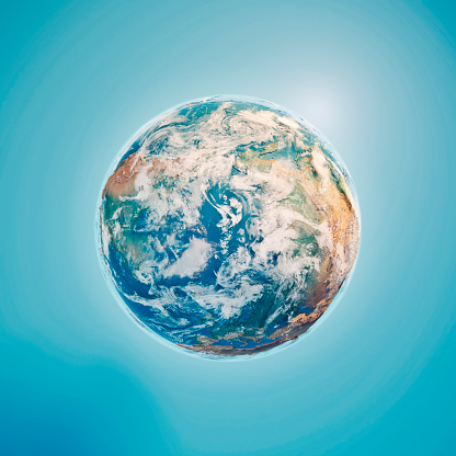 Planet Earth「North Pole 3D Render Planet Earth Clouds」:スマホ壁紙(11)