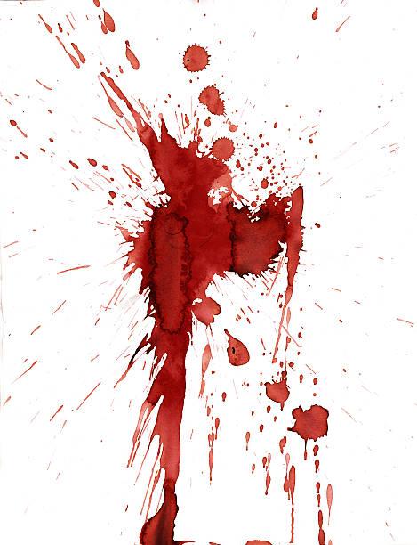 Red blood splatter stain on white background:スマホ壁紙(壁紙.com)
