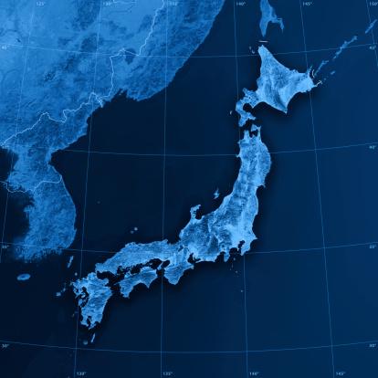 世界地図「日本 Topographic マップ」:スマホ壁紙(13)