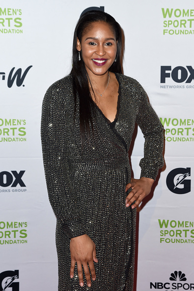 Metallic Dress「The Women's Sports Foundation's 38th Annual Salute To Women In Sports Awards Gala  - Arrivals」:写真・画像(14)[壁紙.com]