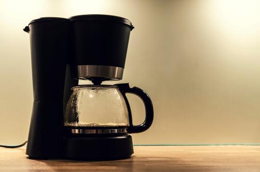 Machinery「Black coffee machine, making a pot of hot coffee」:スマホ壁紙(12)