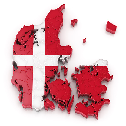 Jutland「Denmark map with flag」:スマホ壁紙(5)