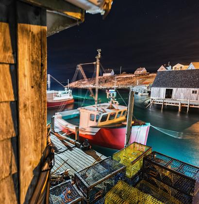 Fishing Village「Peggy's Cove by Night」:スマホ壁紙(10)