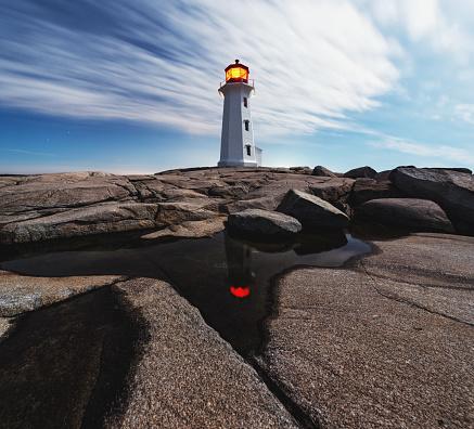 Beacon「Peggy's Cove Lighthouse」:スマホ壁紙(6)