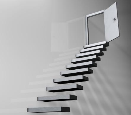 Digitally Generated Image「Open door at top of stairs (digital)」:スマホ壁紙(11)